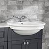 Silverdale Hillingdon Traditional Semi Recessed Basin - 600mm Wide profile small image view 1