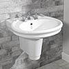 Silverdale Hillingdon 650mm Wide Basin with Semi Pedestal profile small image view 1