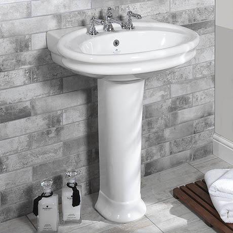 Silverdale Hillingdon 650mm Wide Basin with Full Pedestal