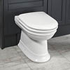 Silverdale Hillingdon Back To Wall BTW Toilet + Soft Close Seat profile small image view 1