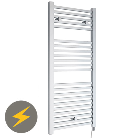 Hudson Reed 1110 x 500mm Electric Square Heated Towel Rail - Chrome - HL151