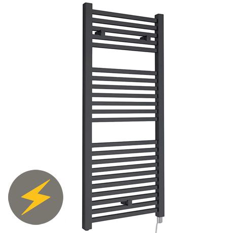 Hudson Reed 1110 x 500mm Electric Square Heated Towel Rail - Anthracite - HL153