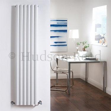 Hudson Reed Revive Single Panel Vertical Designer Radiator - White - HL323 Profile Large Image
