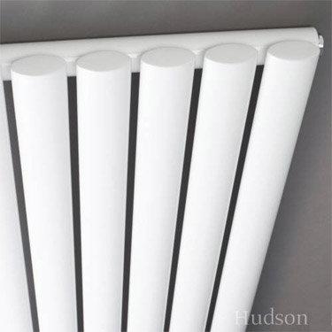 Hudson Reed Revive Single Panel Vertical Designer Radiator - White - HL323 Feature Large Image