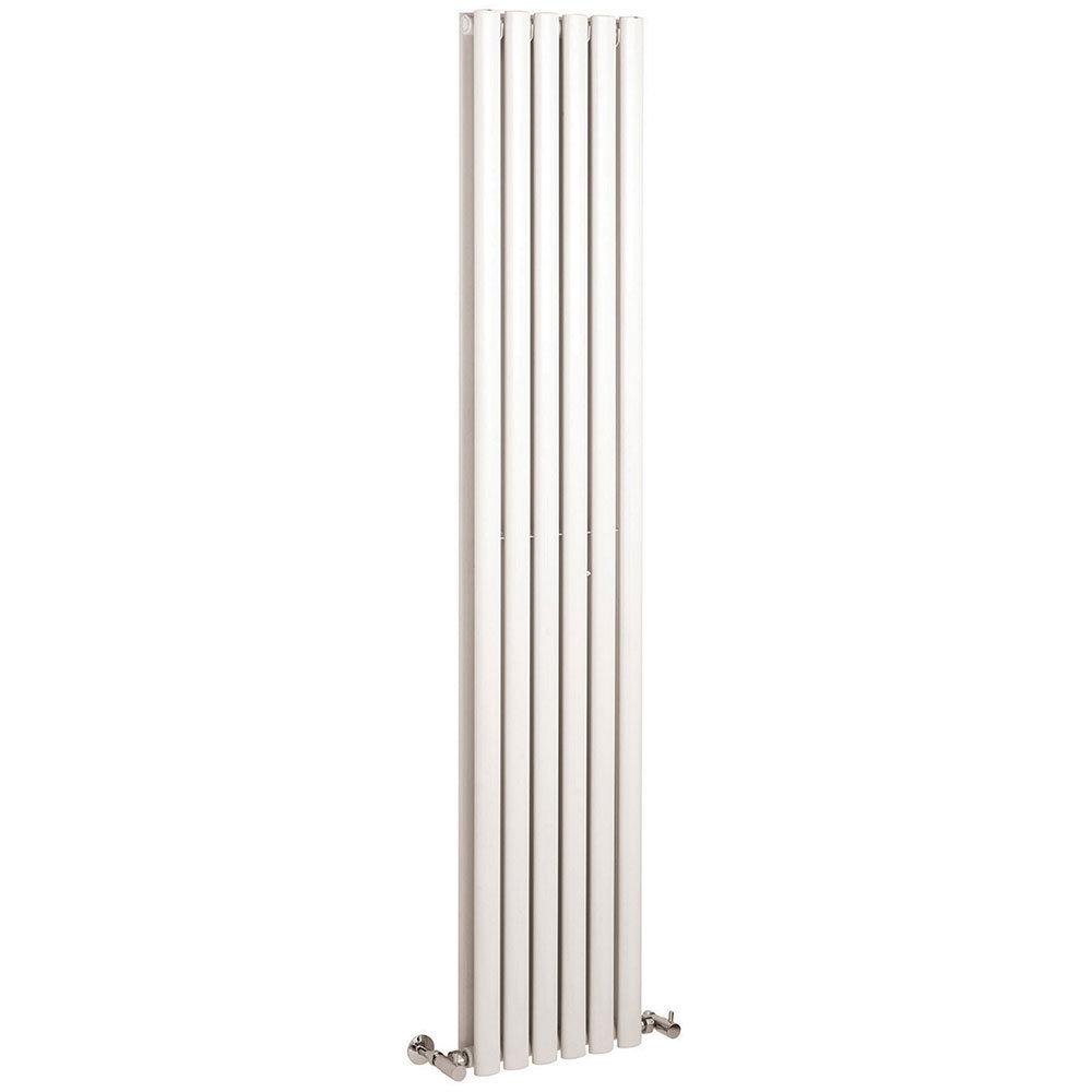 Hudson Reed Revive Single Panel Vertical Designer Radiator - White - HL323 Large Image