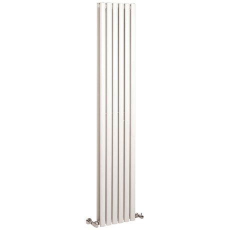 Hudson Reed Revive Single Panel Vertical Designer Radiator - White - HL323