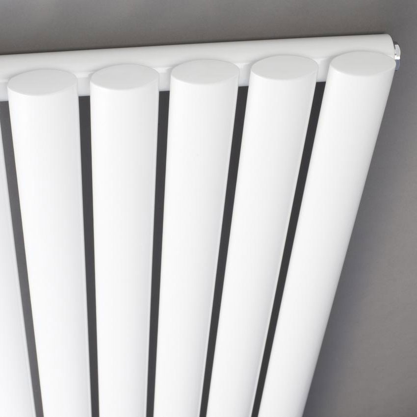 Hudson Reed Revive Vertical Single Panel Designer Radiator 1500 x 354mm - White profile large image view 2