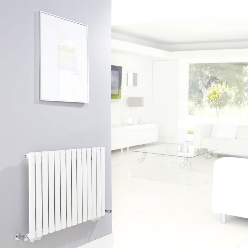 Hudson Reed Revive Small Single Panel Designer Radiator - White - HL324 Feature Large Image