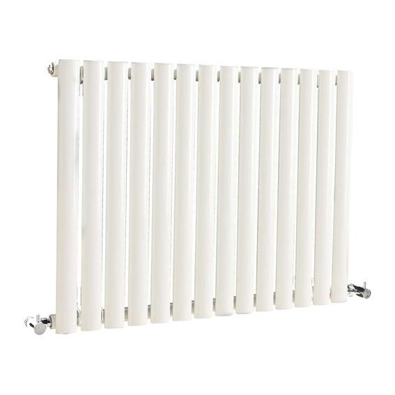 Hudson Reed Revive Small Single Panel Designer Radiator - White - HL324 Large Image