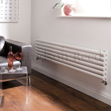Hudson Reed Revive Horizontal Double Panel Radiator 1800 x 354mm - White profile large image view 2