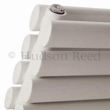 Hudson Reed Revive Horizontal Double Panel Radiator 1800 x 354mm - White profile large image view 3