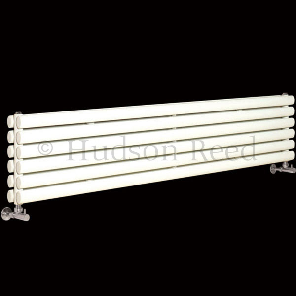 Hudson Reed Revive Horizontal Double Panel Radiator 1800 x 354mm - White profile large image view 1