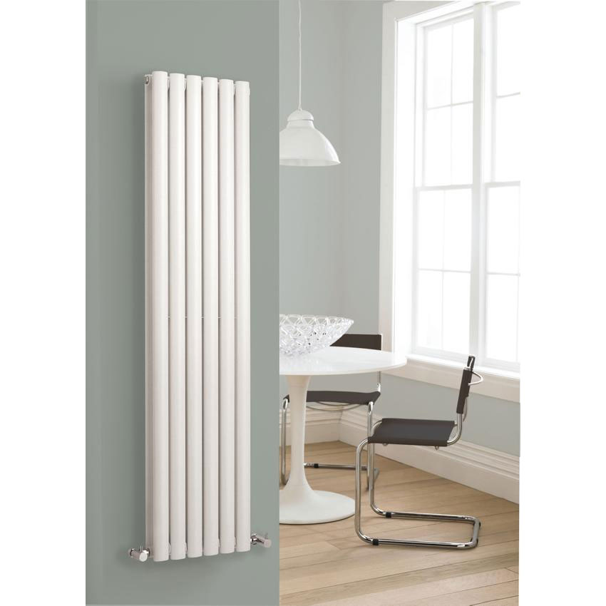 Hudson Reed Revive Vertical Double Panel Designer Radiator - White - HL326 Feature Large Image