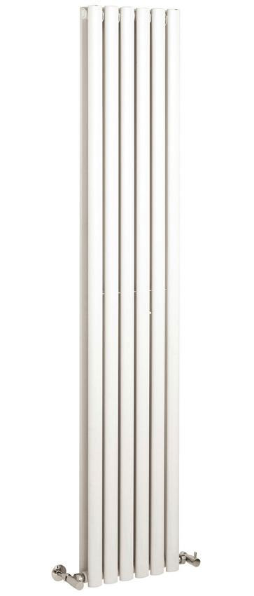 Hudson Reed Revive Vertical Double Panel Designer Radiator - White - HL326 Large Image