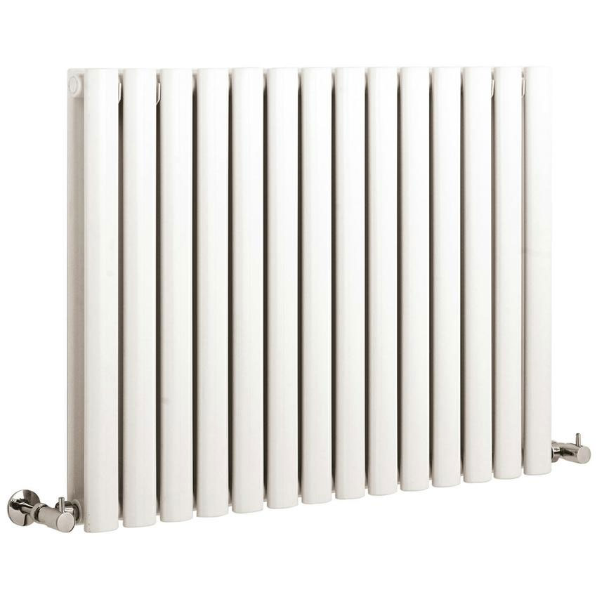 Hudson Reed Revive Small Double Panel Designer Radiator - White - HL328 profile large image view 1