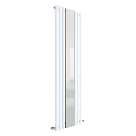 Hudson Reed Revive 1800 x 499mm Single Panel Designer Radiator with Mirror - Gloss White - HL330