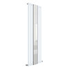Hudson Reed Revive 1800 x 499mm Single Panel Designer Radiator with Mirror - Gloss White - HL330 profile small image view 1
