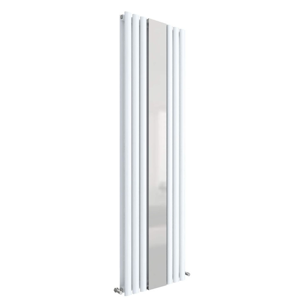 Hudson Reed Revive 1800 x 499mm Double Panel Designer Radiator with Mirror - Gloss White - HL331