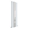 Hudson Reed Revive 1800 x 499mm Double Panel Designer Radiator with Mirror - Gloss White - HL331 profile small image view 1