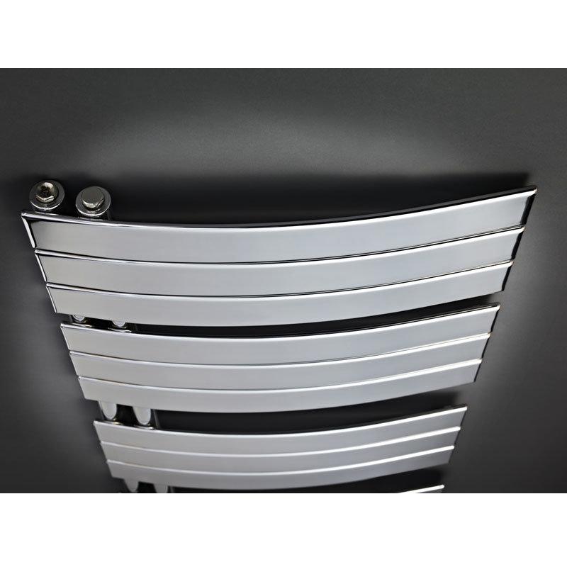 Hudson Reed Elgin Designer Radiator 1080 x 550mm - Chrome - HL336 profile large image view 3
