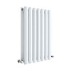 Hudson Reed Revive 600 x 412mm Horizontal Double Panel Radiator - Gloss White - HL337D profile small image view 1