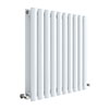 Hudson Reed Revive 600 x 586mm Horizontal Double Panel Radiator - Gloss White - HL338D profile small image view 1