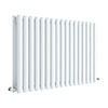 Hudson Reed Revive 600 x 992mm Horizontal Double Panel Radiator - Gloss White - HL339D profile small image view 1