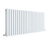 Hudson Reed Revive 600 x 1398mm Horizontal Double Panel Radiator - Gloss White - HL340D profile small image view 1