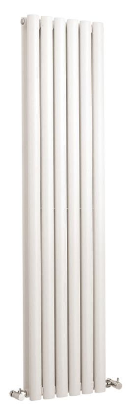 Hudson Reed Revive Vertical Double Panel Designer Radiator 1500 x 354mm - White Large Image