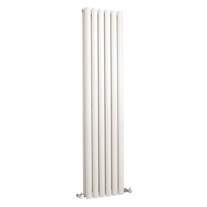 Hudson Reed Revive Vertical Double Panel Designer Radiator 1500 x 354mm - White profile large image view 1