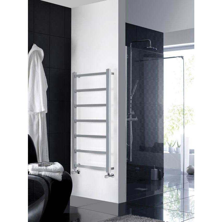 Hudson Reed Eton Designer Radiator 1200 x 600mm - Chrome - HL376 profile large image view 3
