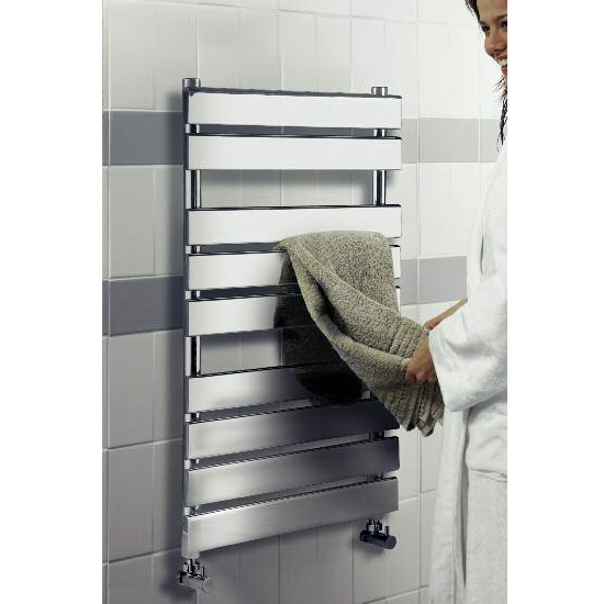 Hudson Reed - Piazza 9 Bar Heated Towel Rail 500 x 950mm - Chrome - HL382 profile large image view 2