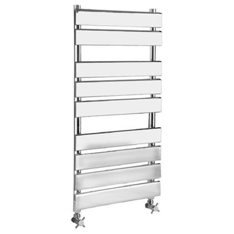Hudson Reed - Piazza 9 Bar Heated Towel Rail 500 x 950mm - Chrome - HL382