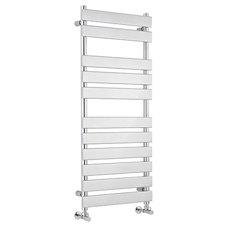 Hudson Reed Piazza 11 Bar Heated Towel Rail 1200 x 500mm - Chrome - HL396