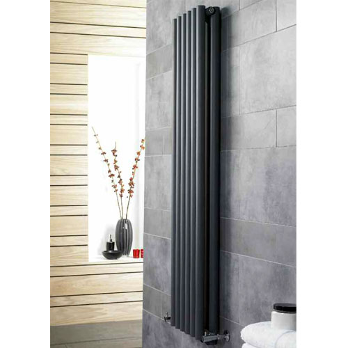 Hudson Reed Savy Double Panel Designer Radiator - 1800 x 354mm profile large image view 2