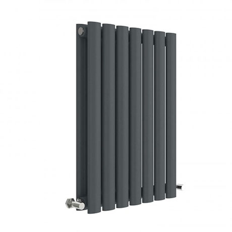 Hudson Reed Revive 600 x 412mm Horizontal Double Panel Radiator - Anthracite - HLA37D