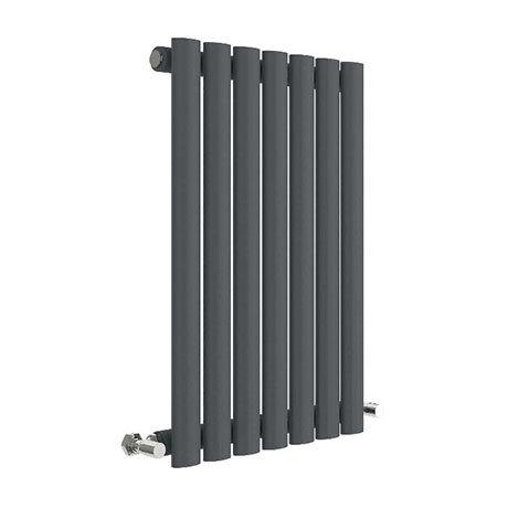 Hudson Reed Revive 600 x 412mm Horizontal Single Panel Radiator - Anthracite - HLA37