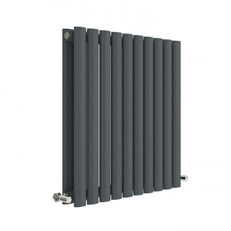 Hudson Reed Revive 600 x 586mm Horizontal Double Panel Radiator - Anthracite - HLA38D