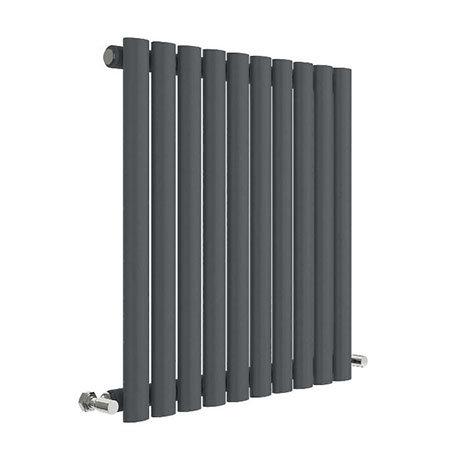 Hudson Reed Revive 600 x 586mm Horizontal Single Panel Radiator - Anthracite - HLA38