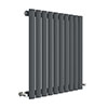 Hudson Reed Revive 600 x 586mm Horizontal Single Panel Radiator - Anthracite - HLA38 profile small image view 1
