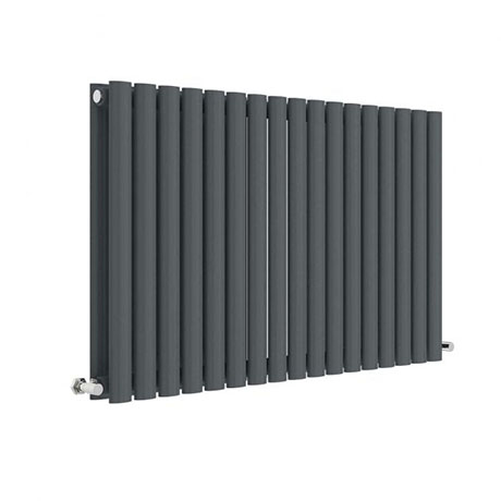 Hudson Reed Revive 600 x 992mm Horizontal Double Panel Radiator - Anthracite - HLA39D