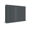 Hudson Reed Revive 600 x 992mm Horizontal Double Panel Radiator - Anthracite - HLA39D profile small image view 1