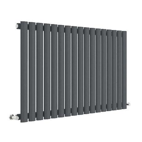 Hudson Reed Revive 600 x 992mm Horizontal Single Panel Radiator - Anthracite - HLA39