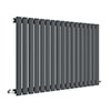 Hudson Reed Revive 600 x 992mm Horizontal Single Panel Radiator - Anthracite - HLA39 profile small image view 1