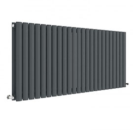 Hudson Reed Revive 600 x 1398mm Horizontal Double Panel Radiator - Anthracite - HLA40D