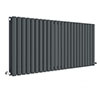 Hudson Reed Revive 600 x 1398mm Horizontal Double Panel Radiator - Anthracite - HLA40D profile small image view 1