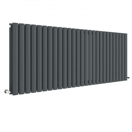 Hudson Reed Revive 600 x 1572mm Horizontal Double Panel Radiator - Anthracite - HLA42D