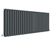 Hudson Reed Revive 600 x 1572mm Horizontal Double Panel Radiator - Anthracite - HLA42D profile small image view 1