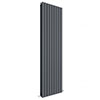 Hudson Reed Sloane 1800 x 528mm Vertical Double Panel Radiator - Anthracite - HLA47D profile small image view 1