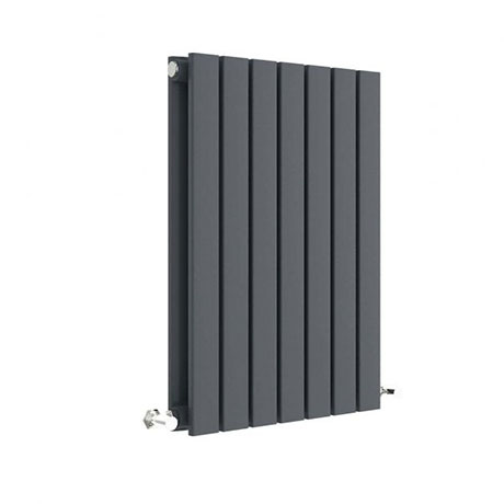 Hudson Reed Sloane 600 x 412mm Horizontal Double Panel Radiator - Anthracite - HLA54D
